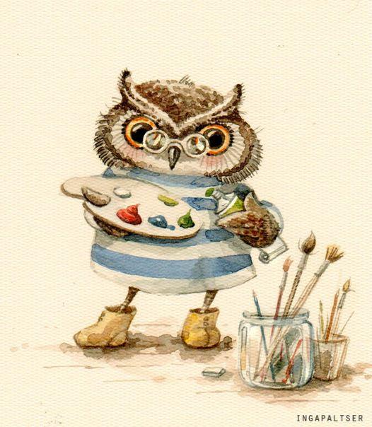 artist owl by Inga Paltser