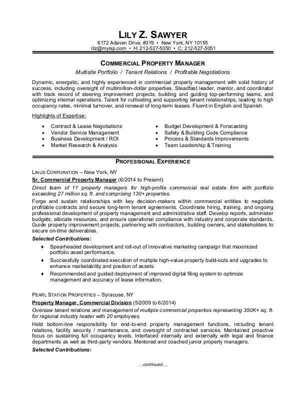 Property Manager Resume Sample Monster Manager Resume Property Management Job Resume Examples