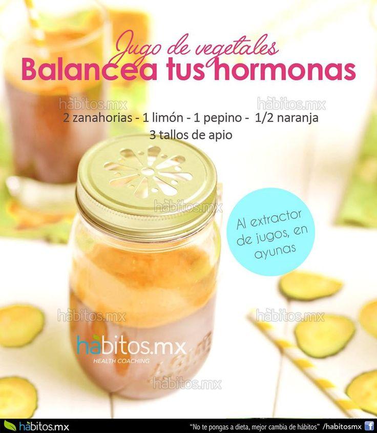 Hábitos Health Coaching | JUGO DE VEGETALES BALANCEA TUS HORMONAS