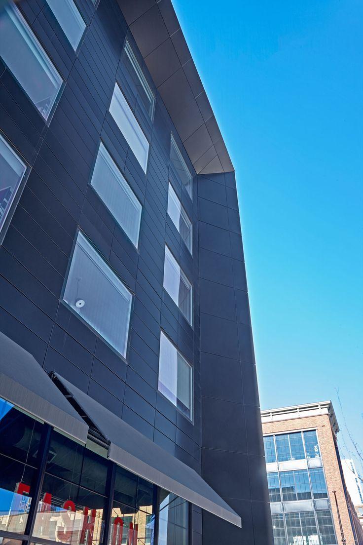 Radison RED Hotel, Minneapolis, Alucobond Plus Focus Black, ESG Architecture Design, Atomic Sheet Metal, Ryan Companies US, Bergerson Photography