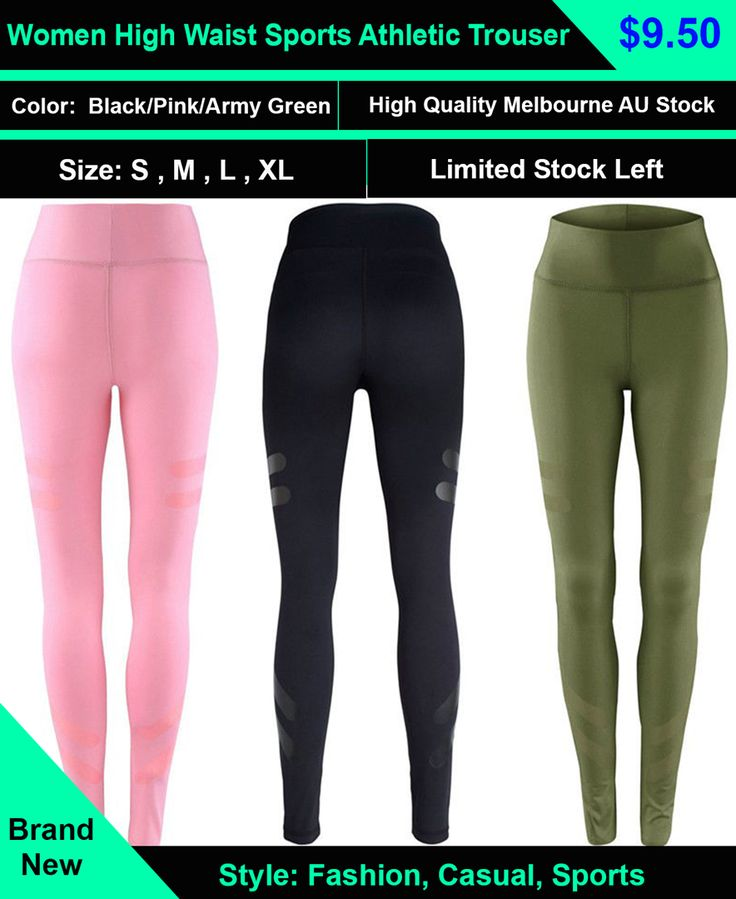 Women High Waist Sports Gym Yoga Running Fitness Leggings Pants Athletic Trouser  women leggings can be worn any way you want! — Workout leggings for women at the gym —Dance tights at the studio or womens athletic leggings perfect for running and biking.