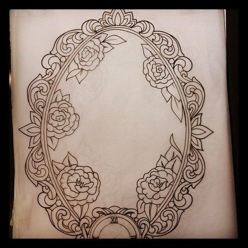 victorian frame tattoo - Google Search                                                                                                                                                                                 More