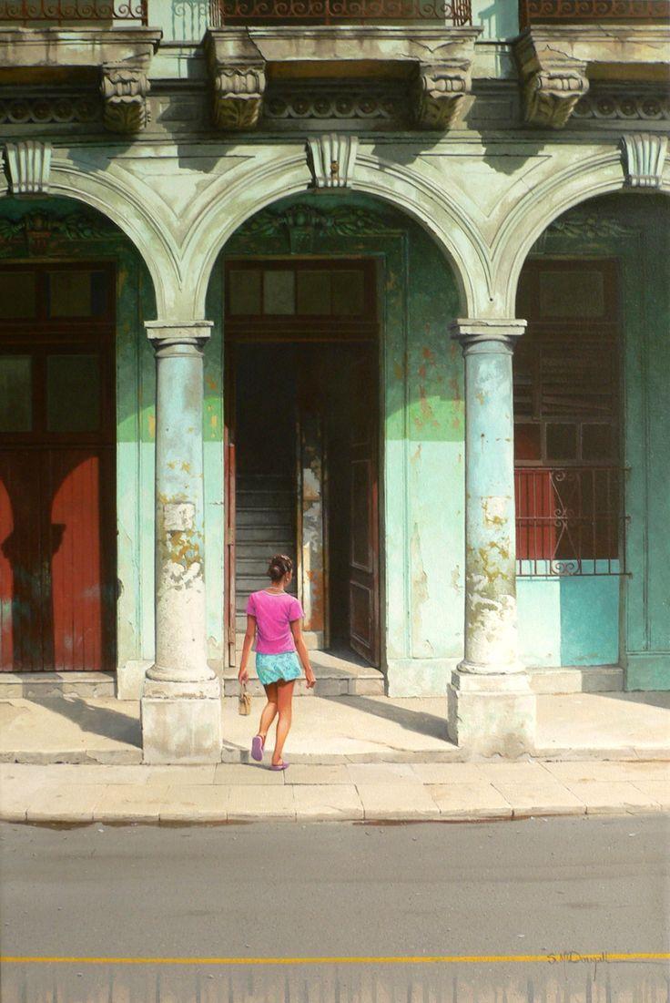 Under the arches, Havana 90cm x 60cm