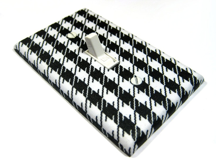 Black and White Houndstooth Light Switch Cover Modern Home Decor Hounds Tooth Switch Plate Switchplate 566. $6.00, via Etsy. Comes in many more colors and patterns.
