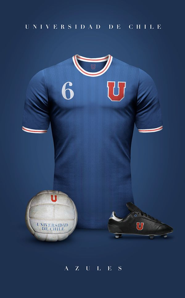 Universidad de Chile estilo vintage