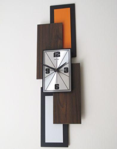 Vintage Verichron Wall Clock MCM Mid Century Modern Atomic Starburst   eBay