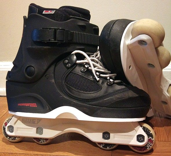 Salomon ST90 Skates with USD soul plates. One of the best custom mods I've ever seen, would be awesome to ride!