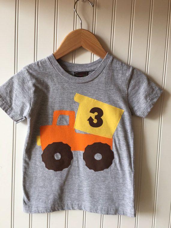 Construction 3rd birthday shirt. Completely customizable. Dump truck birthday shirt. Work Zone party. Second, third, truck, cone, work truck