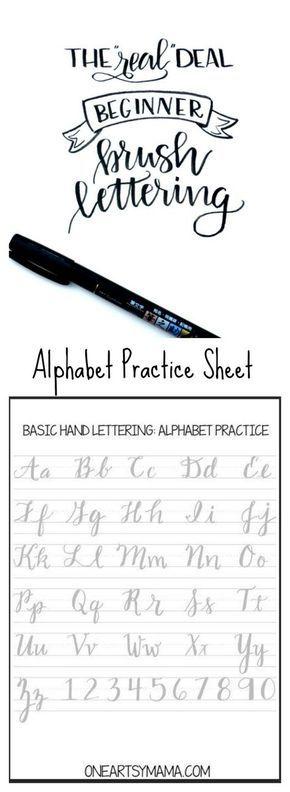 Alfabet schoonschrift