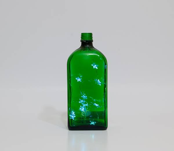 green lamp botlle recycled