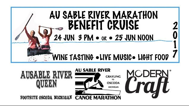 Cruise with the Official Wine of the Au Sable River Canoe Marathon  https://moderncraftwine.com/collections/bus-tours/products/tickets-for-the-arcm-benefit-cruise-on-the-ausable-rvier-queen
