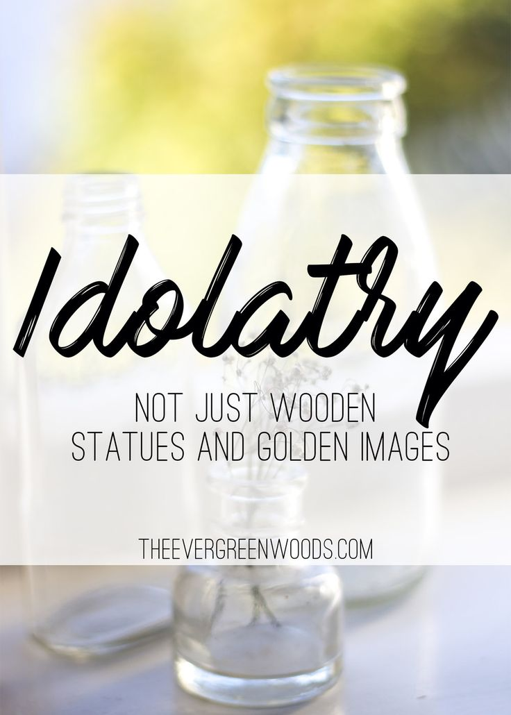 Idols are not just wooden or stone images that people bow down to as gods. Come and see where I have discovered idolatry in my own life.