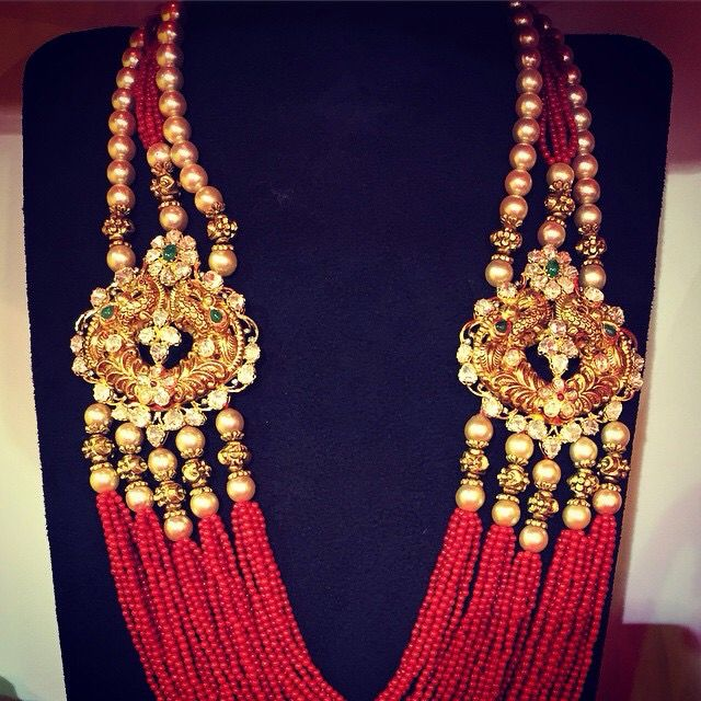 #zevadhi Ruby,Diamond and Pearl necklace
