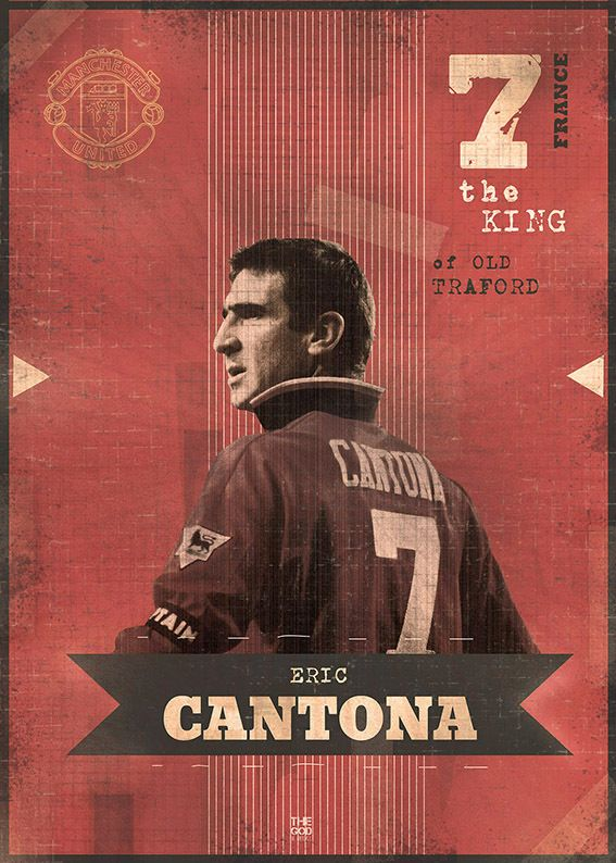 The Gods Of Football (Part I) by Marija Marković on Behance — Eric Cantona, #7, France