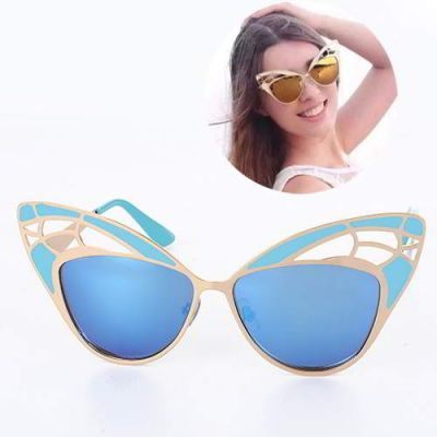 Cat Eye Shape Hollow Out Design Blue. Simple and must have it! REPIN if you love it.😍 Only 199 IDR
