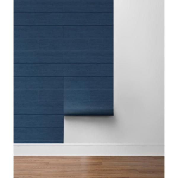 Nextwall Shiplap Coastal Blue Vinyl Strippable Roll Covers 30 75 Sq Ft Ax10902 The Home Depot In 2020 Peel And Stick Wallpaper Coastal Blue Blue Vinyl