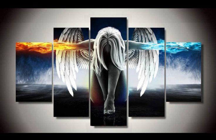 """Fallen Angel"" 5 piece art print in two sizes - unbelideals"