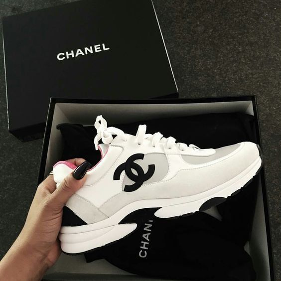 Sneakers | Chanel | Shoes | Dad sneakers | White sneakers | Inspiration | More o…