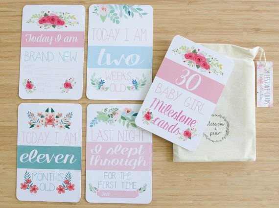 Moments and Milestone Cards - Floral Collection