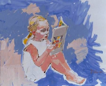 girl reading by Max Kohler