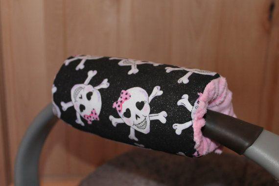 Padded Handle cover skulls girl skulls handle cover car by isewjo