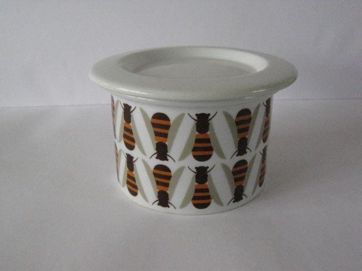 Arabia Finland hunaja (11-67) Honey Jar with Lid  design by Kaj Franck & Raija Uosikkinen