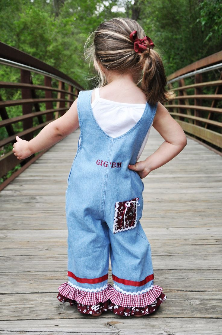 how cute! Texas A & M - Overalls - my future little girl will have these
