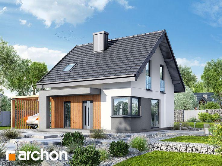 Dom w borówkach (N) - zachwyca funkcjonalnym wnętrzem, prostą bryłą i nowoczesnym wykończeniem elewacji.