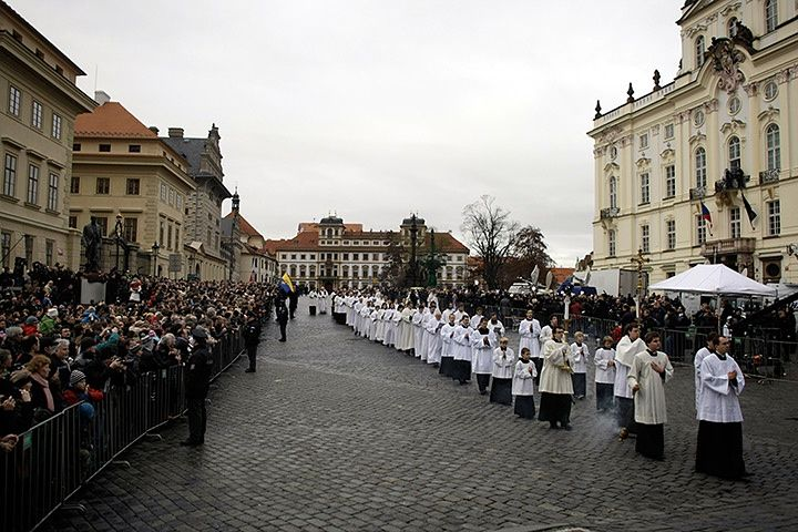 Vaclav Havel funeral in Prague – in pictures