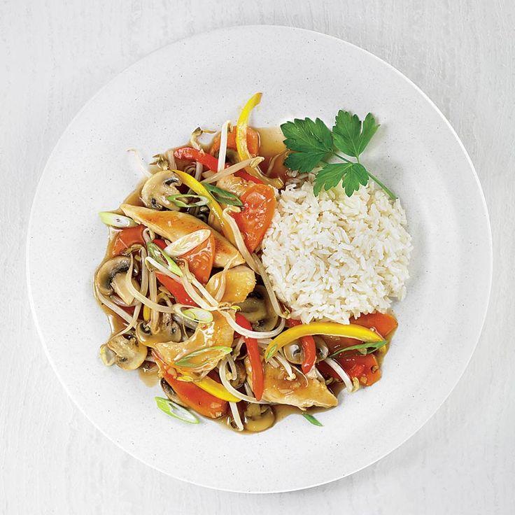 Sauté de poulet et de légumes
