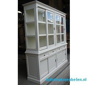 Witte winkelkast 220cm