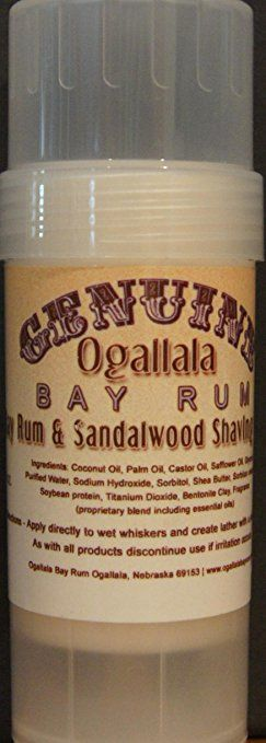 Two (2) Genuine Ogallala Bay Rum Rum and Sandlewood shaving sticks. This is a version of our… Review