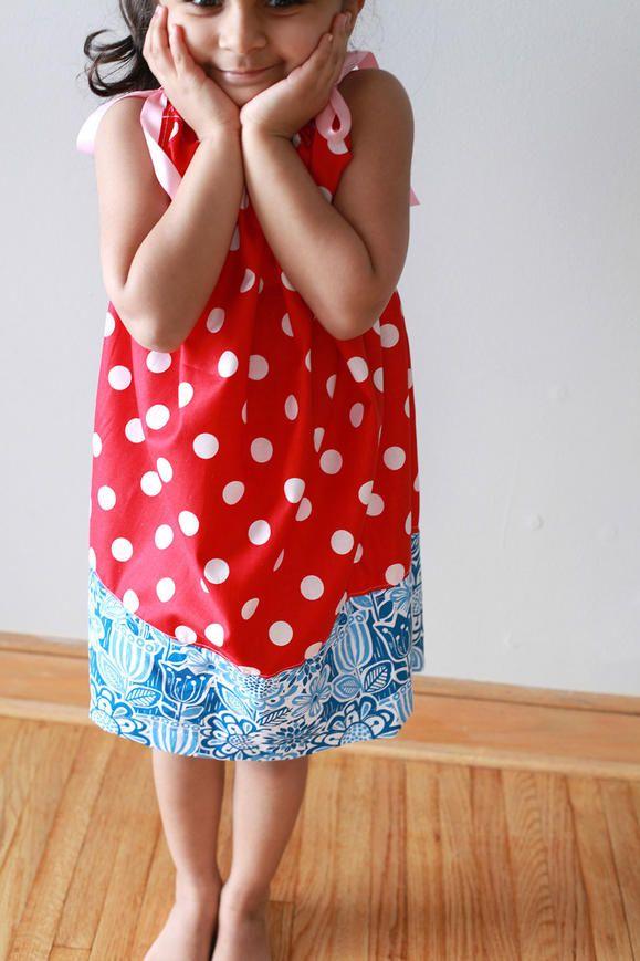 Pillowcase Dress for the 4th of July www2.fiskars.com