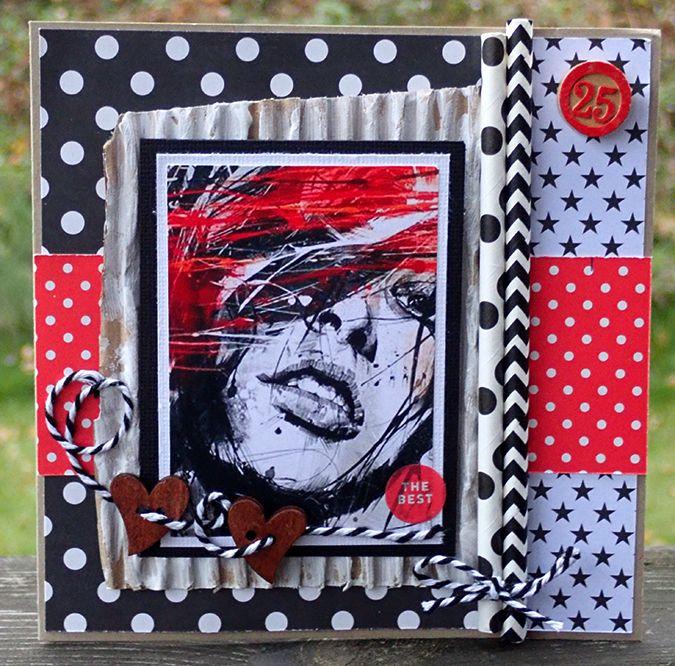 Red&black birthday card :)