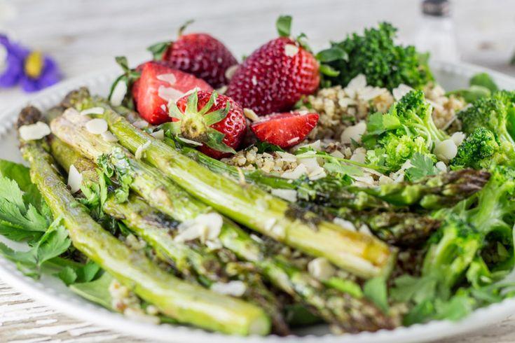 salade asperges amandes...& sauce tahine