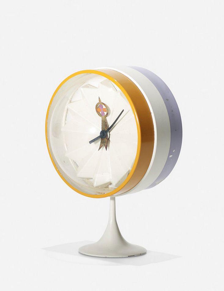 Beautiful George Nelson U0026 Associates; #2264 Table Clock For Howard Miller, C1958.