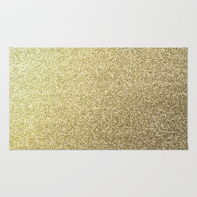 gold glitter Area & Throw Rug by lamottedesign - $28.00