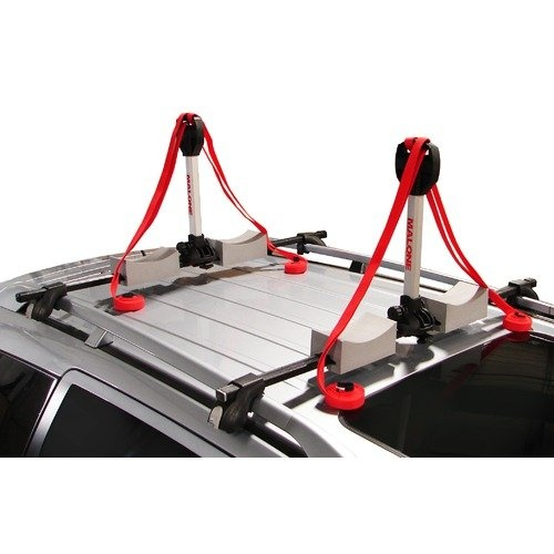 Malone Auto Racks Stax Pro2 Universal Car Rack Folding Kayak Carrier (2 Boat Carrier) with Bow and Stern Lines