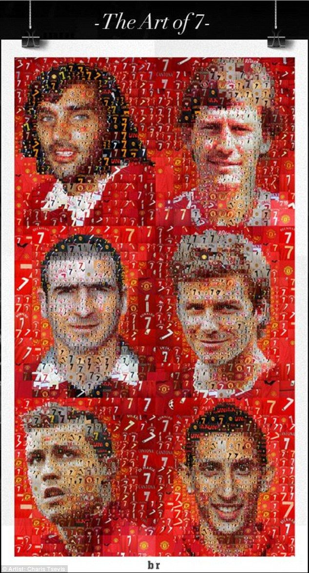 Artist Charis Tsevis brings all six United No 7s together in this work...