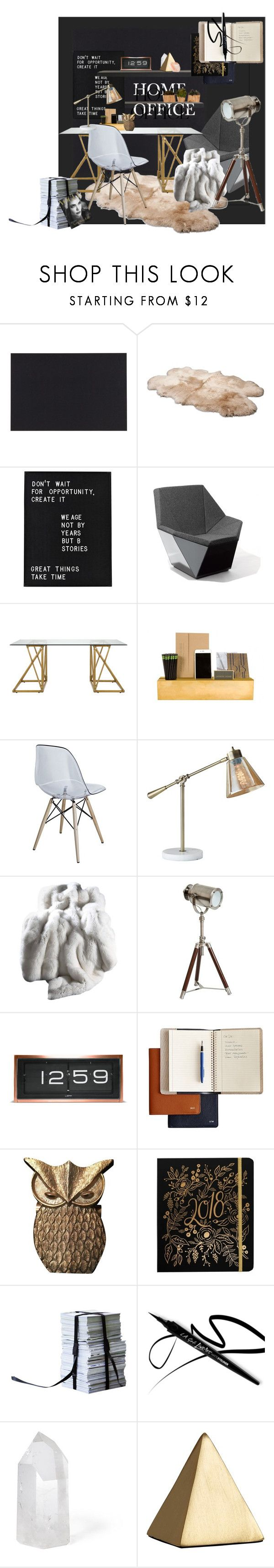 """""""Work Hard: Home Office"""" by moody-board ❤ liked on Polyvore featuring interior, interiors, interior design, home, home decor, interior decorating, Wallies, UGG, Knoll and Selamat"""