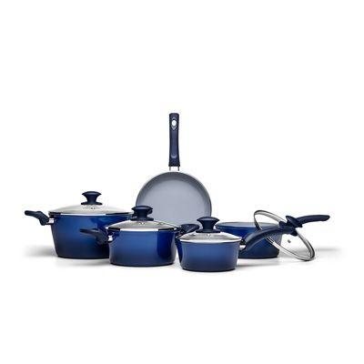 Jogo de Panelas Alumínio Ceramic Life Azul 5 Peças -Brinox
