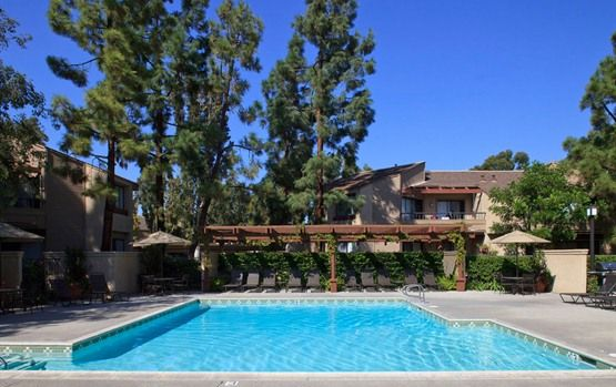 Heated Swimming Pool and Spa at Cross Creek Apartments in Irvine, CA - You'll never have to leave home! #rentalliving