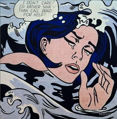 익사하는 여자 - 로이 리히텐슈타인