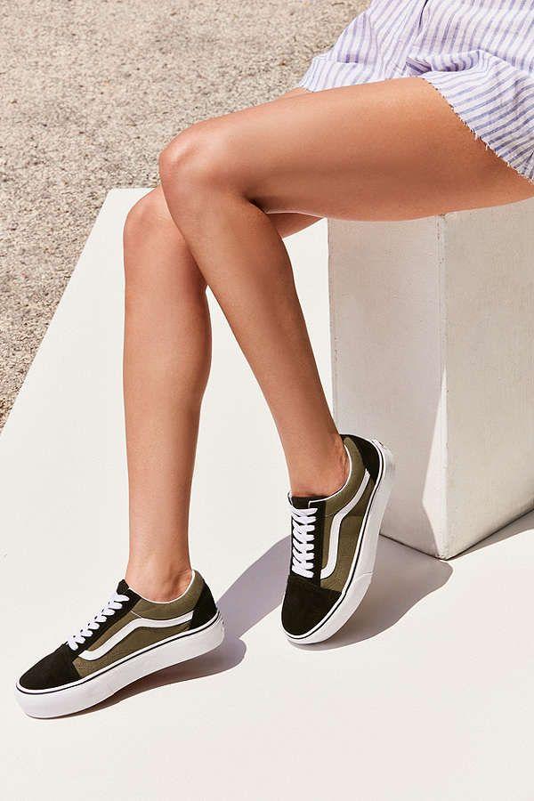 Slide View: 1: Vans Old Skool Platform Sneaker