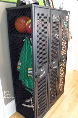 Lockers For Boys Bedrooms...Super Cute (of Course Minus The Smell Of