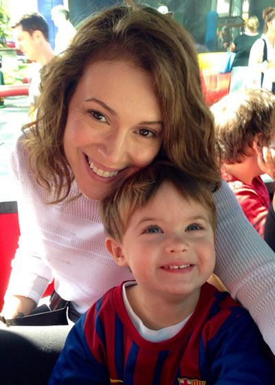Alyssa Milano and Son, Milo