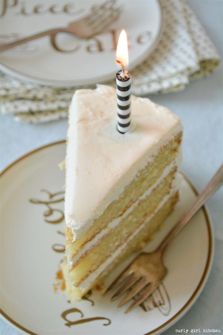 Curly Girl Kitchen: Perfect Vanilla Cake Recipe