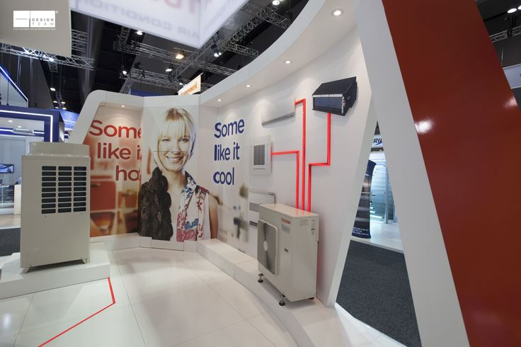 TOSHIBA @ ARBS  With the right balance of product and messaging we are able to develop a design that encompasses their brand and corporate identity. LED lights are used on the stand to illustrate the relationship between products.