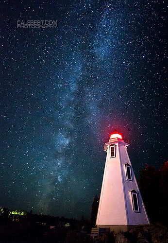 The Milky Way over Big Tub Lighthouse ~ Tobermory, Ontairo, Canada