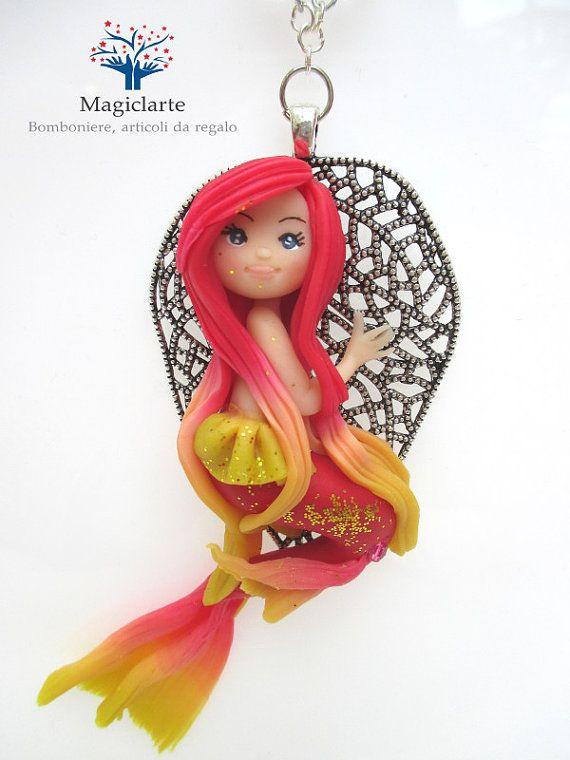 Collana con sirena di Magicla su Etsy